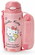 Sanrio Hello Kitty Thermos Straw Bottle With Cover 400ml Stainless Steel Polypr