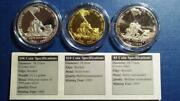 Marshall Is - 1995 War In The Pacific - Iwo Jima - Cased 3pc Set - Proof