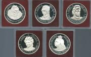 Cayman Is - 1977 5pc Sterling Silver 25 Dollar - Queens Of England - Proof