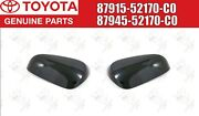 Toyota Genuine Prius C Outer Mirror Cover 12-18 Black Left And Right Side Oem Jdm