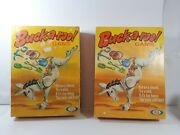 2 Buck-a-roo Vintage Game Ideal 1970 Toy Lot Of 2 Horse Farmer Cowboy Miner