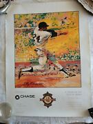 Leroy Neiman Willie Mays 1997 Poster Chase Bank Rare 18x24