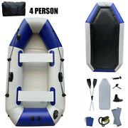4 Person Inflatable Kayak Boat Raft Set With 2 Oars And Air Pump Cruising Fishing