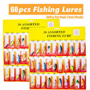 Colorful Lot Of 60 Pcs Trout Spoon Metal Fishing Lures Spinner Baits Bass Tackle