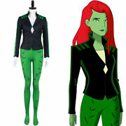 Harley Quinn-poison Ivy Cosplay Costume Halloween Outfit Full Set