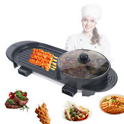 Portable Indoor/outdoor Electric Barbecue Grill Cooking W/5-speed Regulator Usa