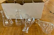 Lot Of 12 In Box Flask, Erlenmeyer Narrow Mouth Pyrex® Glass 50ml 498050
