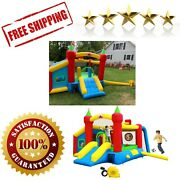 Inflatable Bounce House Jumping Castle Slide Kids Bouncer With Ball Pit Slide