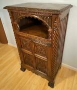 French Antique Gothic Revival Bar/side/tv Cabinet