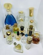Lot Of 16 Assorted Glass Perfume Bottles-most Empty-collectibles