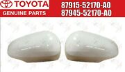 Toyota Genuine Prius C Outer Mirror Cover White Left And Right Set 2012-2018 Oem
