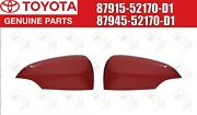 Toyota Genuine Prius C Outer Mirror Cover Red Left And Right Set 2012-2018 Oem