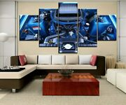 Ford Falcon Gt Engine 5 Panel Canvas Print Poster Wall Art Home Decor
