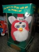 1998 Furby 70-800 Santa Christmas Special Limited Edition Blue Eyes Comatosed