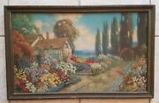 Original Signed 1920's R. Atkinson Fox An Old Fashioned Garden Largest Version