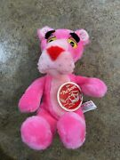 """Vintage Pink Panther Plush 10"""" Tall By Mighty Star 1980 Stuffed Animal With Tags"""