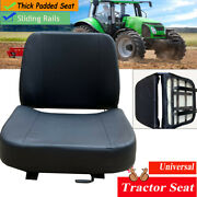 Universal Tractor Seat With Sliding Track Lawn Mower And Forklift Seat Replacement