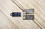 3 Vtg Old Ohio 1951 1952 Mini License Plate Key Chain Dav Tags Matching Numbers