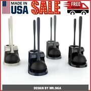 Mr.siga Toilet Plunger And Bowl Brush Combo For Bathroom Cleaning 1 Set