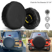 Spare Tire Cover For Jeep Wrangler 17inch Size Xl Wheel Tire Cover 32-34 Inch