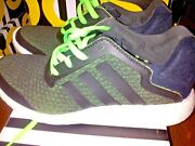 Adidas Pureboost Reveal Menand039s Running Shoes Size 9 Green Black Please Read Info