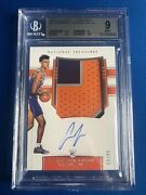 2019-20 National Treasures Cameron Johnson Rookie Patch Auto Rpa /99 Bgs 9/10