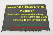 Lenovo Edge 2-15 1580 Nt156fhm-a13 Lcd Touch Screen Assembly W/bezel 5d10j34211