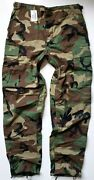 Military Hot Weather Woodland Camouflage Combat Trousers Pants Medium Long Nos