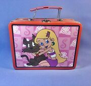 Rare Sabrina The Teenage Witch Animated Series Lunch Box Salem Pink And Red