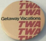 Twa Trans World Airlines Pin Getaway Vacations Airplane Button Aviation Plane