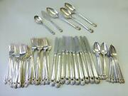 51 Piece 1941 Eternally Yours 1847 Rogers Bros Silver Plate Flatware Set For 10+