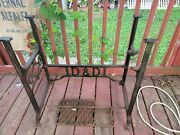 Vintage D Andd Sewing Machine Cast Iron Table Base Steampunk Rare Unique Great