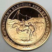C6981 Franklin Mint Bronze Medal, Lincoln Becomes President  1860