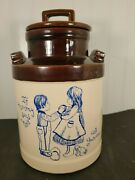 Vintage Usa Pottery Cookie Jar Milk Can If Mommy Says No Ask Grandma 10 Tall