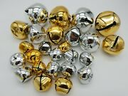 Metal Christmas Bells Gold Silver Jingle Bell Decorations 3 Sizes Lot Of 25