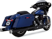 Vance And Hines Monster Round Slip-ons 4 In. Black 46780