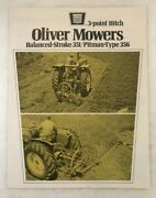 1970s Oliver Mower 3-point Hitch 351 356 Tractor Brochure Vintage Farm Advertsng
