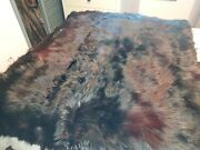 Antique Carriage Blanket. Real Black Bear Lined And Quilted. By Jh Bishop Co.