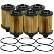 Wix Set Of 6 Engine Motor Oil Filters For Jeep Ram 3.0l Tdi