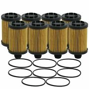 Wix Set Of 8 Engine Motor Oil Filters For Jeep Ram 3.0l Tdi