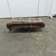 Antique Industrial Factory Warehouse Railroad Coffee Table Cart 28x48x16h