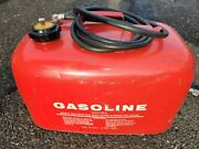 Vintage Boat Metal Gas Can 6 Gallon Very Nice With Gauge
