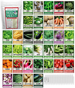 Survival Vegetable Seeds Garden Kit Over 16000 Seeds Non-gmo And Heirloom Grea