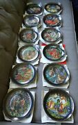 Russian Legends Plates Fairy Tale ,complete Set Of 12, Collector's Condition