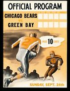 Ex Plus 9/24/1944 Packers Vs Bears Nfl Program - Packers Are 1944 Nfl Champs