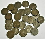 1909 V.d.b. Wheat Pennies Lot Of 10 Cent  Free Shipping