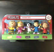 Peanuts Just Play Figure Set The Gangand039s All Here 5 Snoopy Charlie Brown Sealed