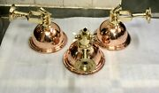 Nautical Marine Cargo Smooth Brass And Copper Pendant Wall Hanging Light 5 Pieces