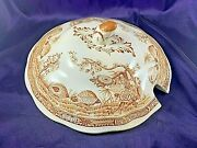 Furnivals Quail Brown Round Soup Tureen Lid 9