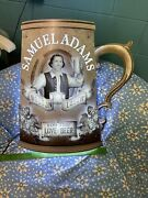 """Rare Samuel Adams Beer Stein For The Love Of Beer Lighted Sign 22x17"""" Metal"""